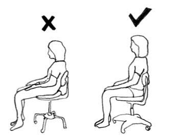 Η λανθασμένη θέση στην καρέκλα μπορεί να δημιουργήσει προβλήματα στη μέση